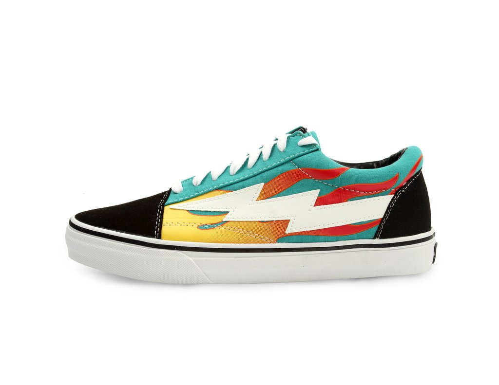 Cool Revenge X Storm Teal Flame Low Top